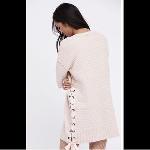 Heart It Laces Free People Sweater